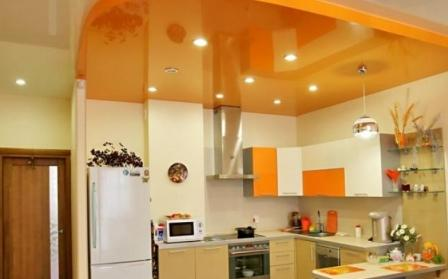 ПВХ натяжные потолки для кухни