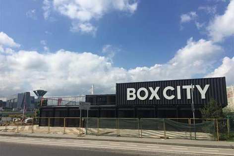 В Подмосковье появился торговый центр, построенный из контейнеров
