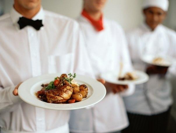 Повар и официанты на выездные банкеты