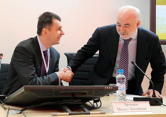 Вексельберг предложил Прохорову 1 млрд долларов за его долю в Русале