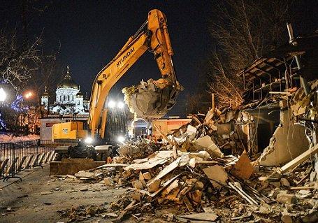 Московским бизнесменам обещают компенсировать стоимость снесенных торговых объектов