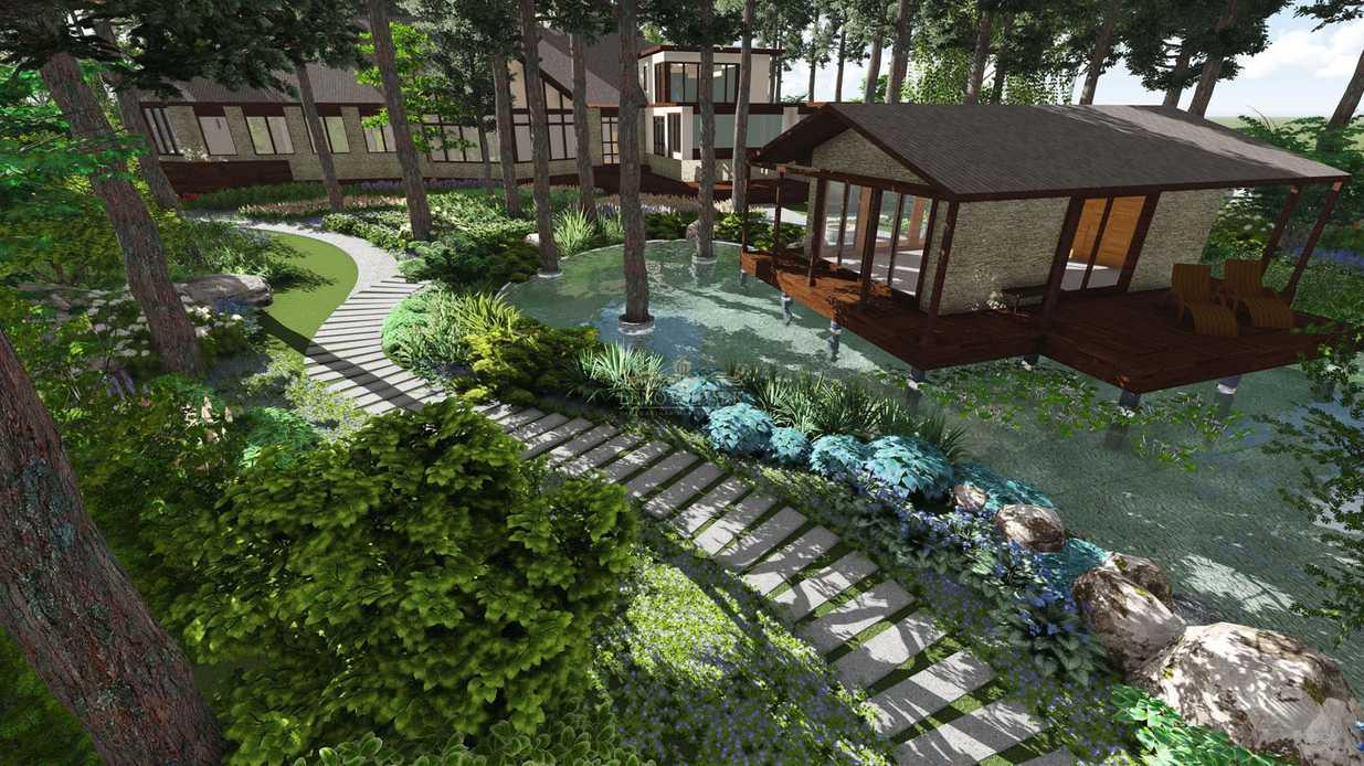 Ландшафтный дизайн садового участка: проект и этапы работ