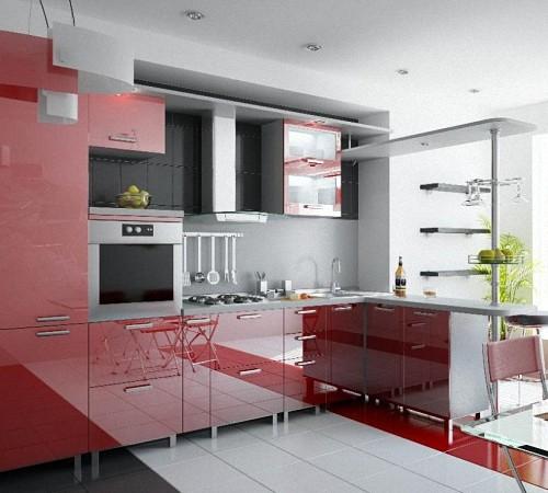 Преимущества кухни из акрила