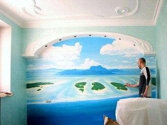 Роспись стен в интерьерах — всегда стильно!