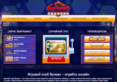 Широкие возможности для игроков в казино Вулкан