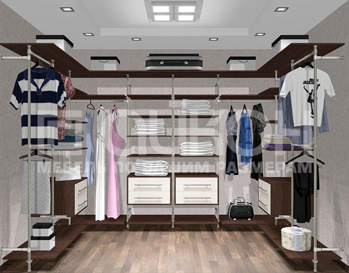 Гардеробные системы и шкафы-купе в дизайне интерьера