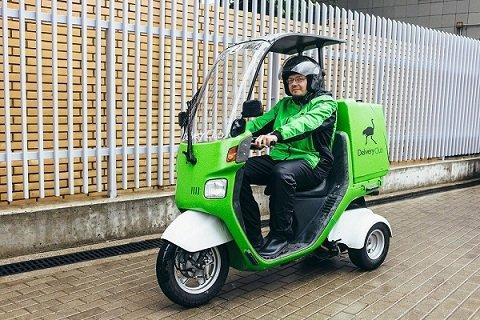 Delivery Club начал доставлять еду с помощью скутеров