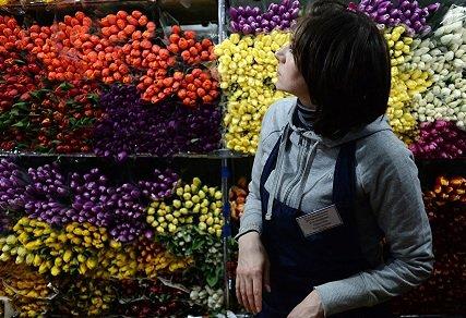 В Москве начали монтировать новые цветочные павильоны