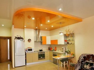 Кухня и натяжной потолок: удачное сочетание?