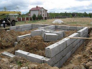 Особенности постройки фундамента из газобетонных блоков