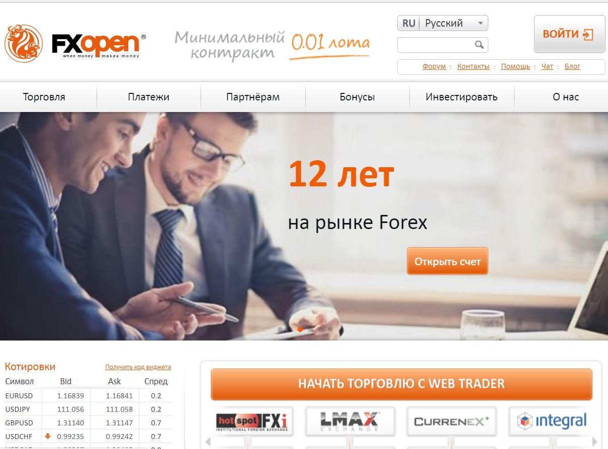 Основные сведения о брокере FXOpen: преимущества, криптовалюты, кэшбек, STP счета