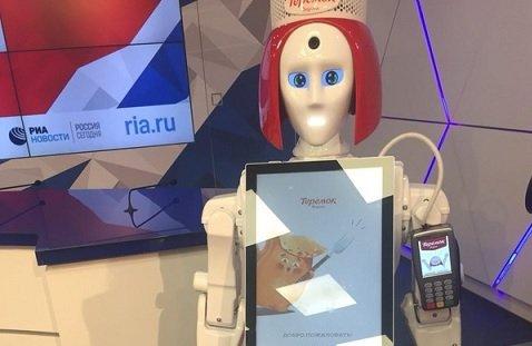 «Теремок» представил робота-кассира