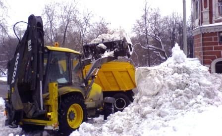 Утилизация снега в Москве
