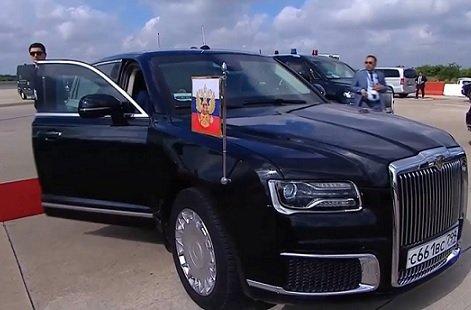 Автомобиль Путина сравнили с лимузином Трампа