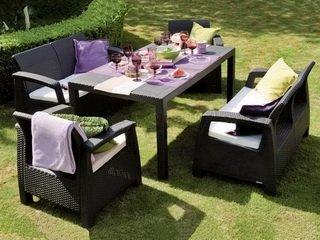 Садовая мебель из искусственного ротанга для комфортного отдыха на свежем воздухе