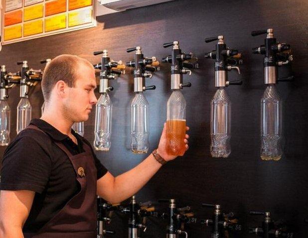 Производители пива начали устанавливать в супермаркетах автоматы по разливу