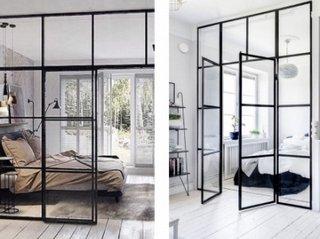 Интерьерные стеклянные перегородки в интерьерах для домов и современных офисов от Московской Зеркальной Фабрики