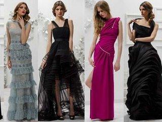 Разновидности фасонов вечерних платьев
