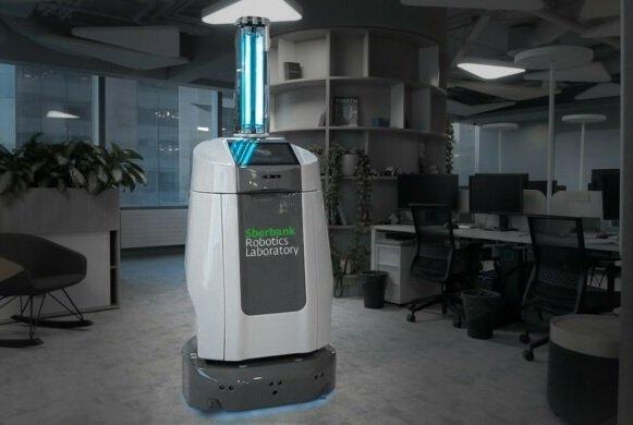 Сбербанк представил концепт робота-дезинфектора